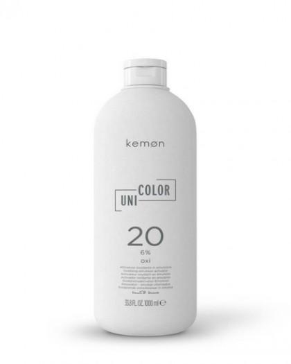 UNI.COLOR OXI 20 Vol. (6%)  универсальная, стабилизирующая, окисляющая эмульсия,         1000 ml
