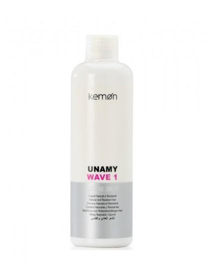 Unamy Wave1 лосьон для перманентной завивки с протеинами шелка для натур. и непослушн. волос, 250 ml