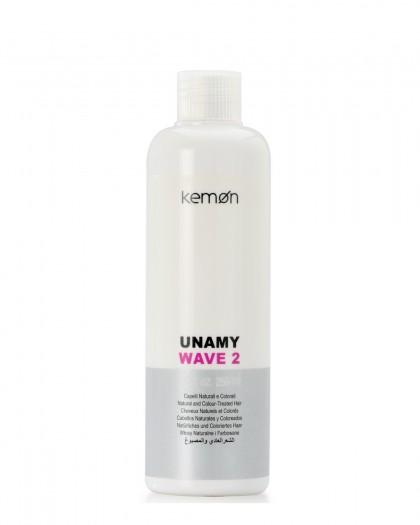 Unamy Wave2 лосьон для перманентной завивки с протеинами шелка для чувствит. и окрашен. волос 250 ml