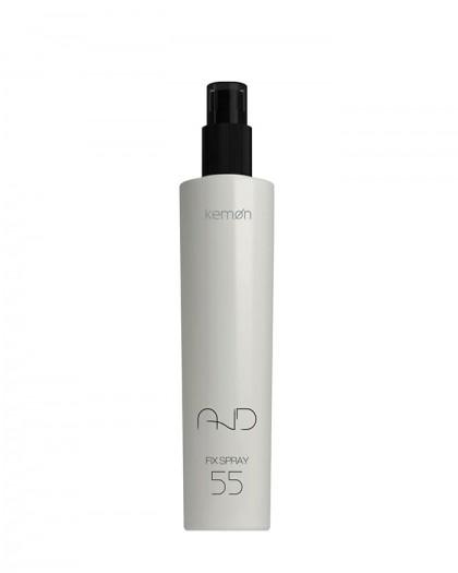 Fix Spray 55 лак-спрей для сияния сверхсильной фиксации, с мелкодисперсным распылением, 200 ml And