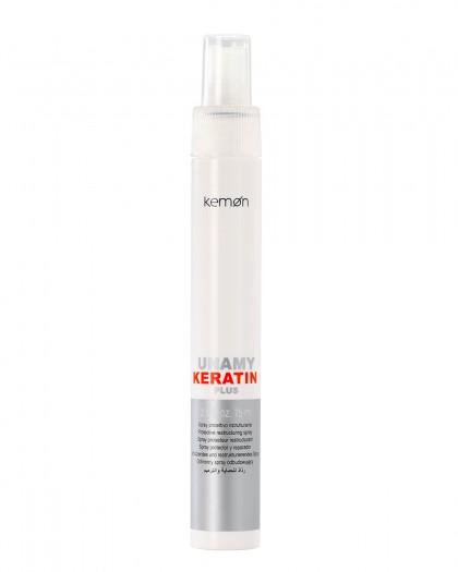 Unamy Keratin Plus Защитный реструктурирующий кератиновый спрей  75 мл