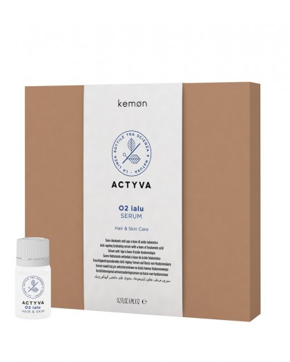 Actyva 02 IALU Hair & Skin  Увлажняющая омолаж. сыворотка на основе гиалуроновой кисл. SN 12 * 6 ml.